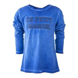 Tee shirt bleu délavé garçon LITTLE MARCEL marque pas cher prix dégriffés destockage