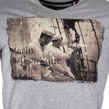 Tee shirt gris floqué homme LITTLE MARCEL marque pas cher prix dégriffés destockage