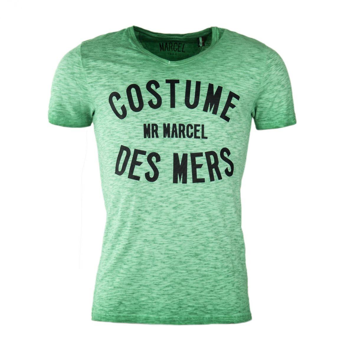 tee shirt d lav avec inscription homme little marcel prix d griff. Black Bedroom Furniture Sets. Home Design Ideas