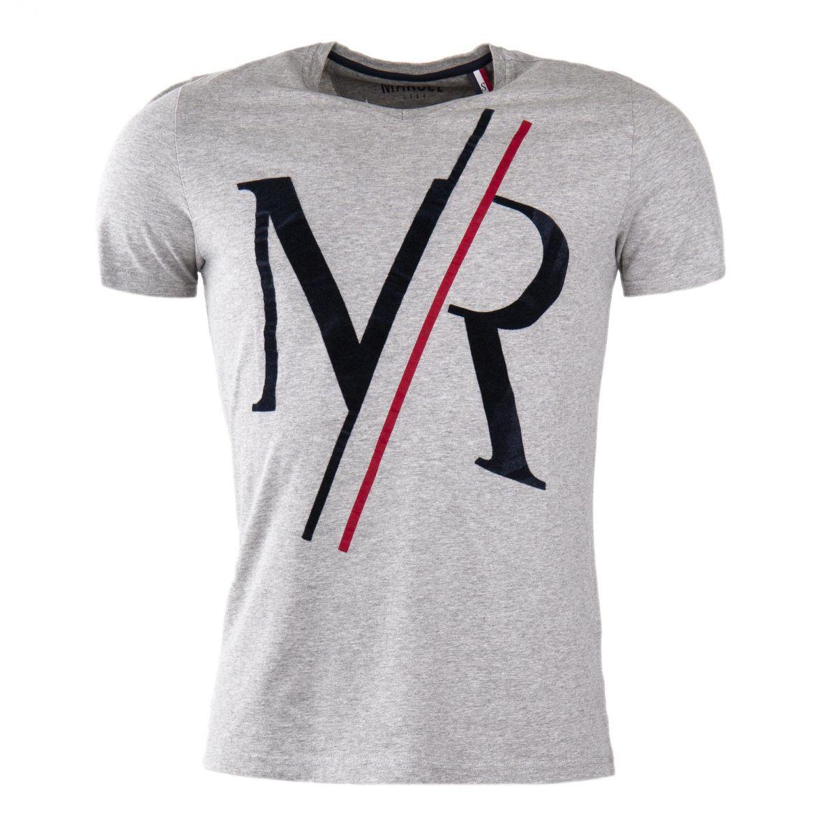 tee shirt manches courtes imprim homme little marcel prix d griff. Black Bedroom Furniture Sets. Home Design Ideas
