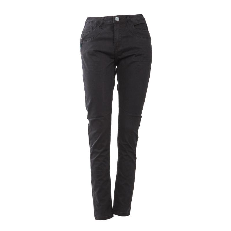 Pantalon en toile noir coupe tappered femme LITTLE MARCEL marque pas cher prix dégriffés destockage