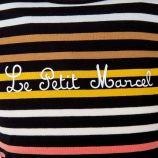 Tee-shirt manches longues rayé fille LITTLE MARCEL marque pas cher prix dégriffés destockage