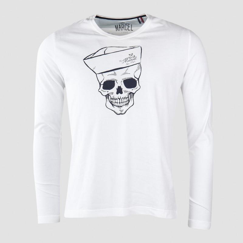 Tee shirt tête de mort homme LITTLE MARCEL marque pas cher prix dégriffés destockage