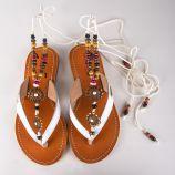 Sandales bride perles et bijoux femme ODELINDE LES TROPEZIENNES marque pas cher prix dégriffés destockage