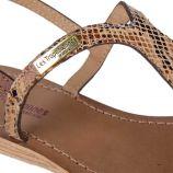 Sandales en cuir imprimé animalier femme BABA LES TROPEZIENNES marque pas cher prix dégriffés destockage