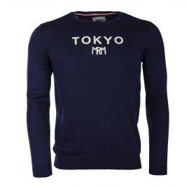 Pull bleu marine TOKYO homme LITTLE MARCEL marque pas cher prix dégriffés destockage
