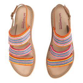 Sandales à perles multicolores femme NOMADE LES TROPEZIENNES marque pas cher prix dégriffés destockage