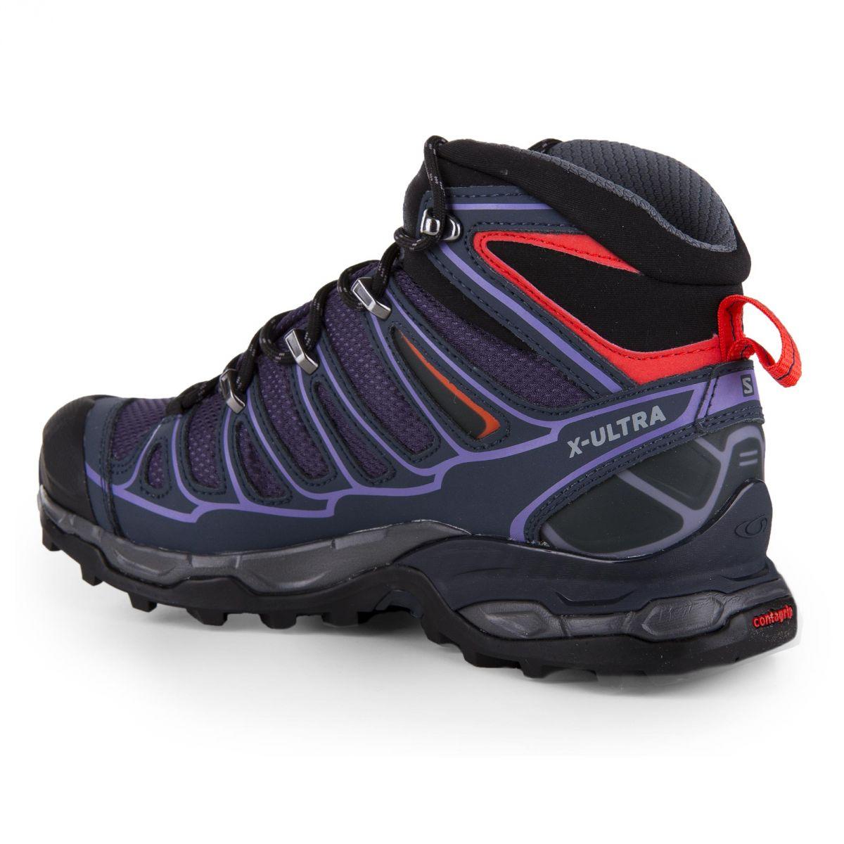 39a5de52a2c ... Chaussures de marche violette GORE-TEX Femme SALOMON marque pas cher  prix dégriffés destockage ...