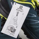 Baskets running vertes mixtes SALOMON marque pas cher prix dégriffés destockage