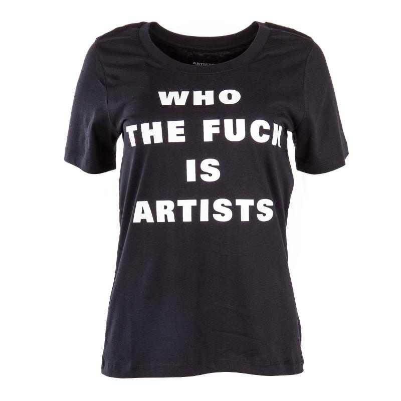 Tee shirt manches courtes floqué femme ARTISTS marque pas cher prix dégriffés destockage