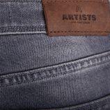 Jean slim gris jambes 7/8 PINK Femme ARTISTS marque pas cher prix dégriffés destockage