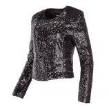 Perfecto noir à sequins femme ARTISTS  marque pas cher prix dégriffés destockage