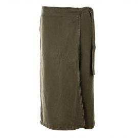 Jupe-culotte kaki tencel femme ON YOU marque pas cher prix dégriffés destockage