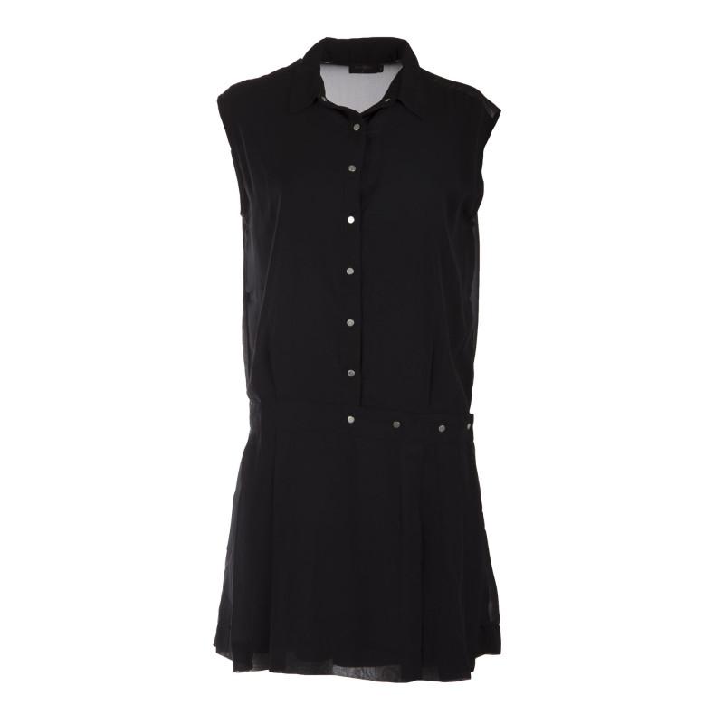 Robe noire plissée femme ON YOU marque pas cher prix dégriffés destockage