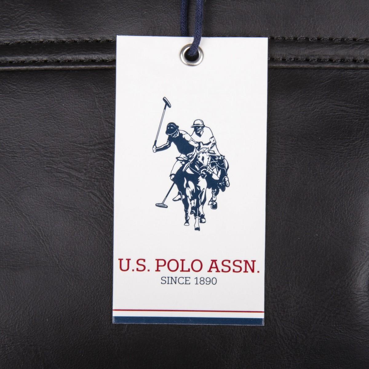 245c48dd33 ... Sac noir bandoulière homme US POLO marque pas cher prix dégriffés  destockage