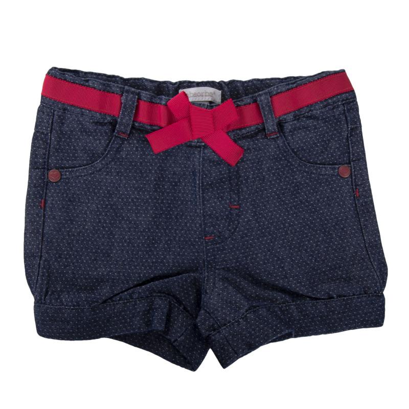 Short en jean à pois bébé ABSORBA marque pas cher prix dégriffés destockage