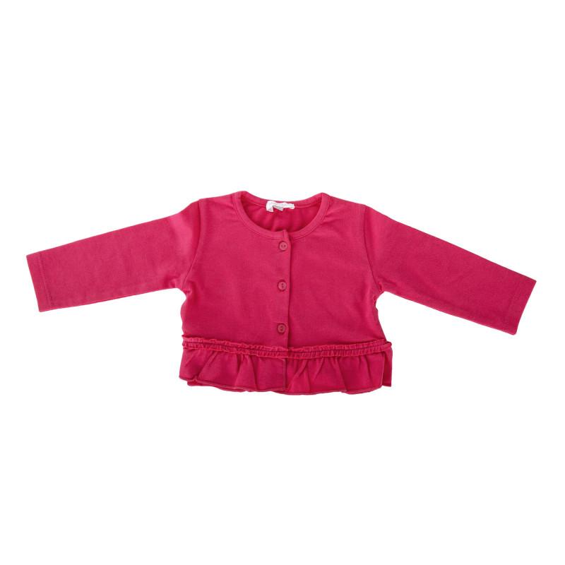 Gilet rose à boutons et volant bébé ABSORBA marque pas cher prix dégriffés destockage