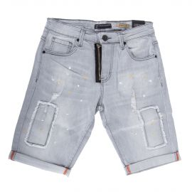 Short en jean délavé homme BLUE SPENCER'S