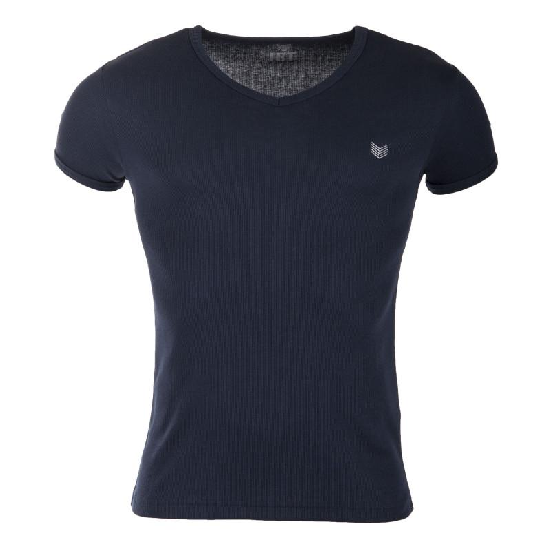 Tee shirt manches courtes coton homme HBT marque pas cher prix dégriffés destockage