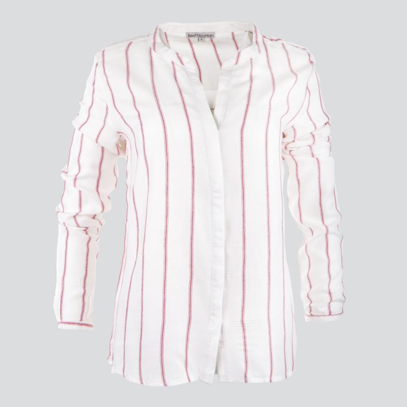 Chemise à rayures col tunisien femme BEST MOUNTAIN marque pas cher prix dégriffés destockage