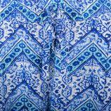 Pantalon fluide imprimé bleu femme BEST MOUNTAIN marque pas cher prix dégriffés destockage