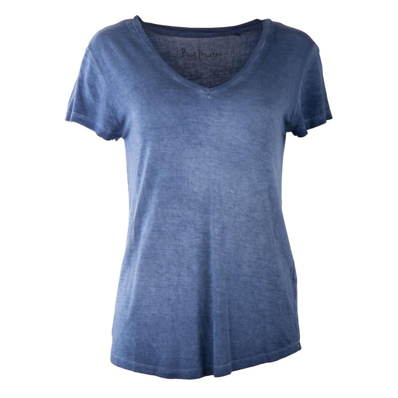 Tee shirt manches courtes délavé femme BEST MOUNTAIN marque pas cher prix dégriffés destockage