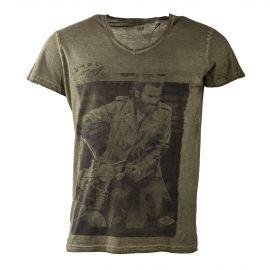 Tee shirt manches courtes kaki homme BEST MOUNTAIN marque pas cher prix dégriffés destockage