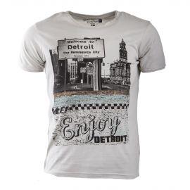 Tee shirt gris clair imprimé homme BEST MOUNTAIN marque pas cher prix dégriffés destockage