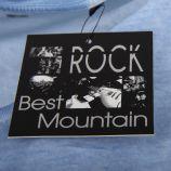 Tee shirt bleu motif tête de mort homme BEST MOUNTAIN marque pas cher prix dégriffés destockage