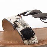 Sandales imprimé animalier et argent BALET femme LES TROPEZIENNES marque pas cher prix dégriffés destockage