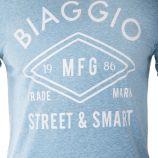 Tee-shirt manches courtes floqué homme BIAGGIO marque pas cher prix dégriffés destockage