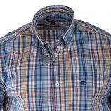 Chemise à carreaux manches courtes homme TED LAPIDUS marque pas cher prix dégriffés destockage