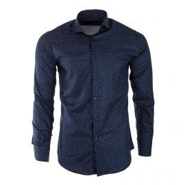 Chemise mouchetée manches longues homme TED LAPIDUS marque pas cher prix dégriffés destockage