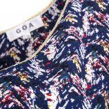 Haut imprimé ouverture goutte dans le dos femme GOA marque pas cher prix dégriffés destockage