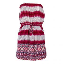 Robe bustier rouge imprimés aztèques femme GOA marque pas cher prix dégriffés destockage