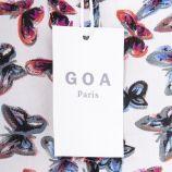 Blouse blanche imprimé papillons femme GOA marque pas cher prix dégriffés destockage