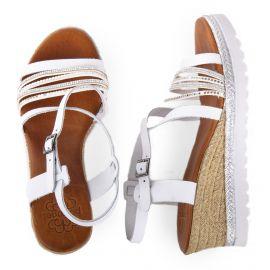Sandales compensées détails strass femme PORRONET