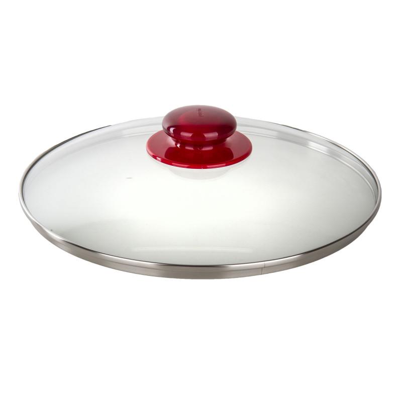 Couvercle en verre détail rouge GUZZINI marque pas cher prix dégriffés destockage