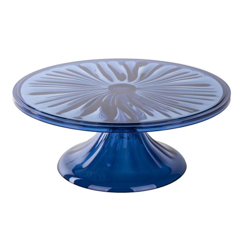 Plateau à gateau bleu en plexiglas GUZZINI marque pas cher prix dégriffés destockage
