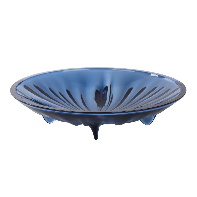 Coupelle centre de table en plexiglas bleu GUZZINI marque pas cher prix dégriffés destockage