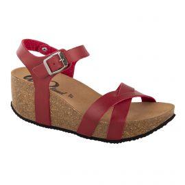 Sandales compensées rouges femme WHY LAND
