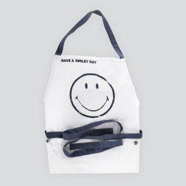 Tablier de cuisine smiley blanc et bleu SERAX
