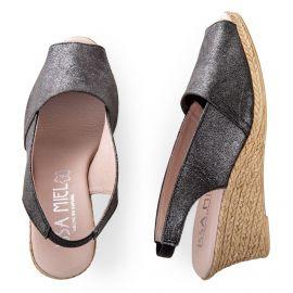Sandales compensées à bout ouvert femme ISSA MIEL marque pas cher prix dégriffés destockage