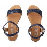 Sandales à paillettes femme ISSA MIEL marque pas cher prix dégriffés destockage