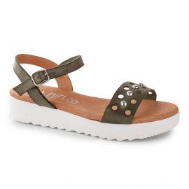 Sandales à plateforme cloutées femme ISSA MIEL marque pas cher prix dégriffés destockage