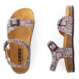 Sandales à paillettes multicolores fille EMMA marque pas cher prix dégriffés destockage
