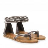 Sandales grises femme GANO Les Tropéziennes marque pas cher prix dégriffés destockage