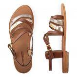 Sandales bi-colores HAPAX femme LES TROPEZIENNES marque pas cher prix dégriffés destockage