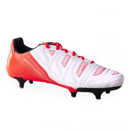 Chaussures de Foot Crampon Blanche & Rouge Homme PUMA