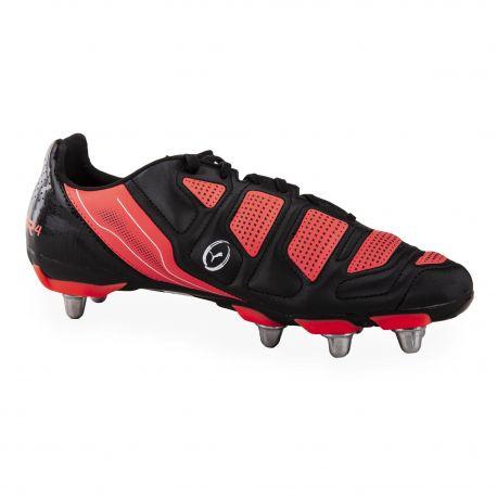 Chaussures de rugby Crampon Noir & Rouge Homme EVOPOWER PUMA marque pas cher prix dégriffés destockage